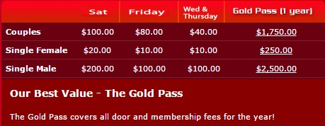 Screenshot from the website of one of the Denver area swinger clubs.