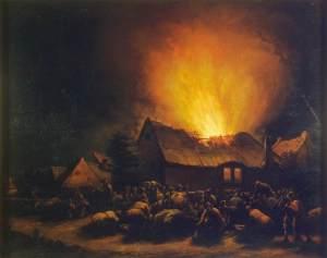 Egbert van der Poel - Fire in a Village
