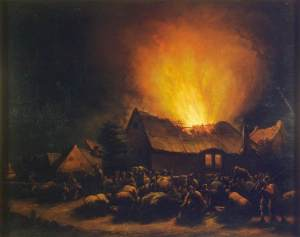Egbert van der Poel - Fire in a Village